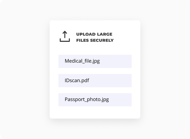 Exchange large files (TB) easily and safely