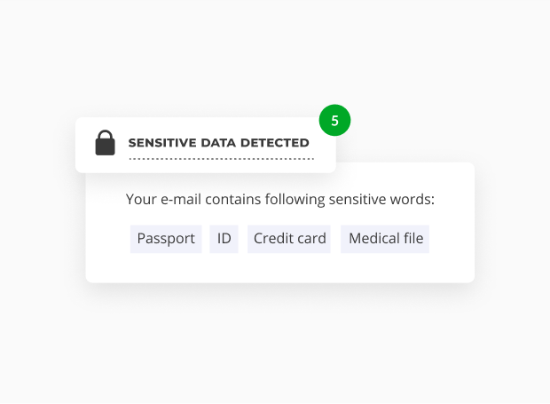 Automatically receive notification alerts when processing sensitive data.