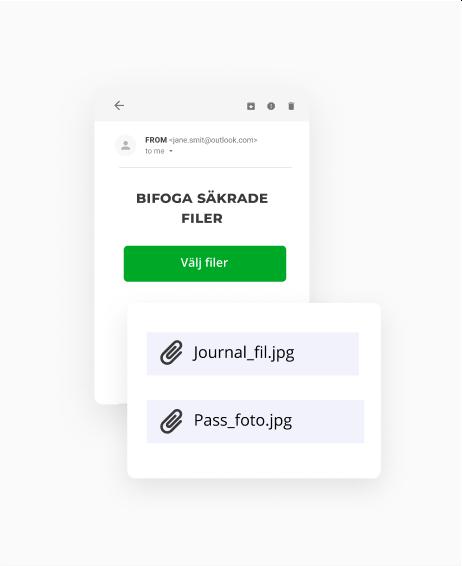 Skicka filer på ett säkert sätt som en e-postbilaga