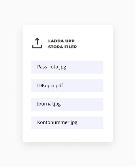 Ta emot filer på din webbplats med en uppladdningsportal