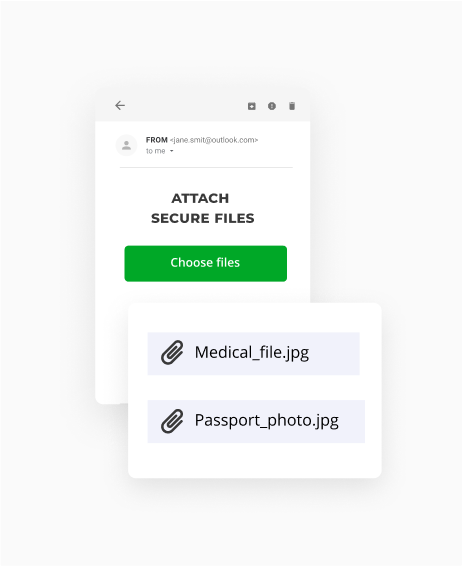 Send files securely as an email attachment