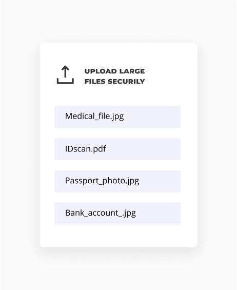 Receive files on your website with an upload portal